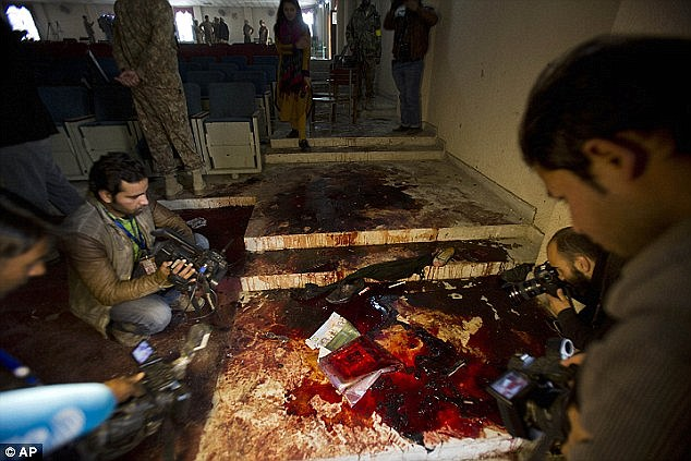 Massacre: The attack on the Army Public School in Peshawar in December killed 142 and the Taliban admitted responsibility for the atrocity