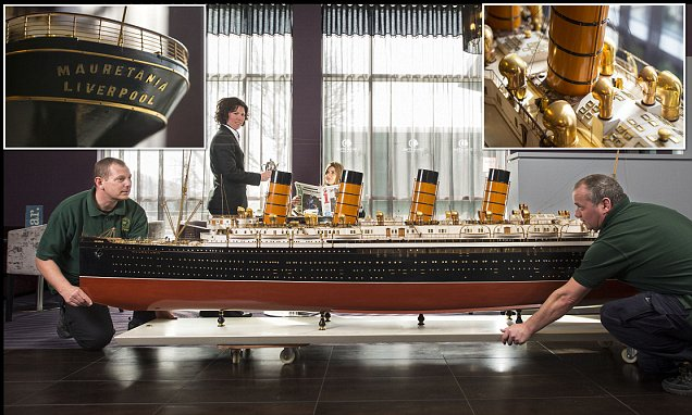 Model Of Ocean Liner RMS Mauretania On Sale For 50000