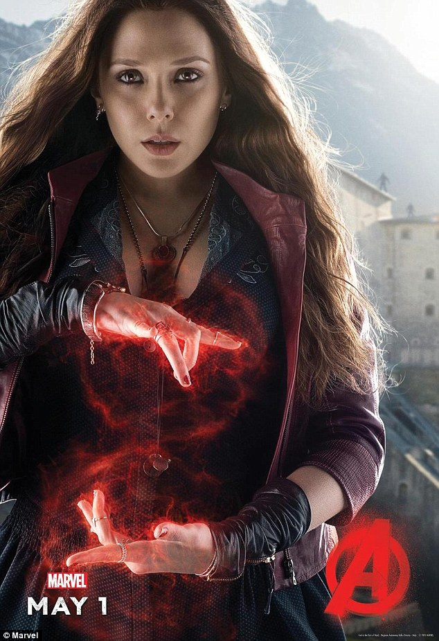 Avengers: Age Of Ultron poster featuring Elizabeth Olsen, opens UK 23 April 2015