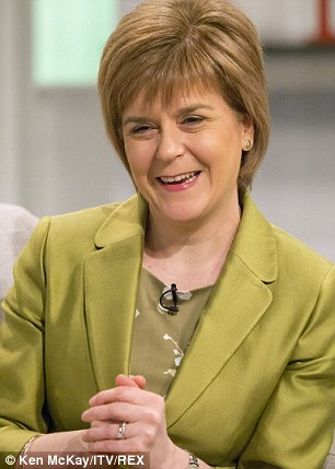 SNP Leader Nicola Sturgeon Who Could Soon Run England With