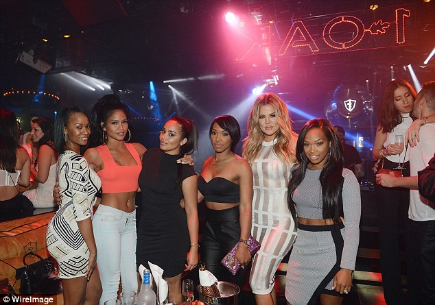 Picture perfect: (L-R) Brandi Wilson, Cassie, Lauren London, Malika, Khloe and Khadijah