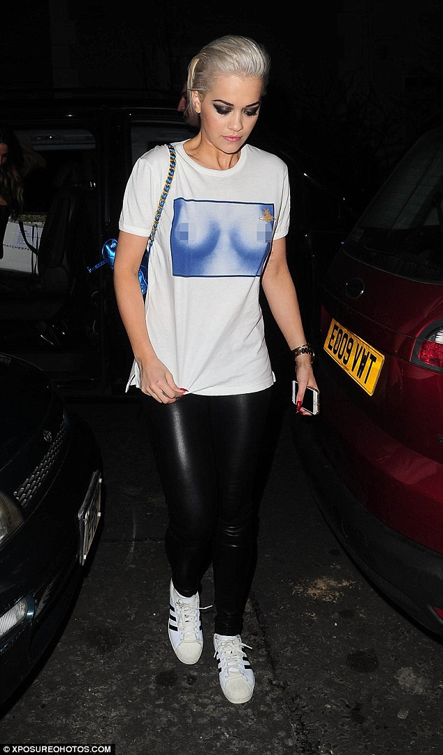 Rita Ora In A Breast Print T Shirt After Wowing On The