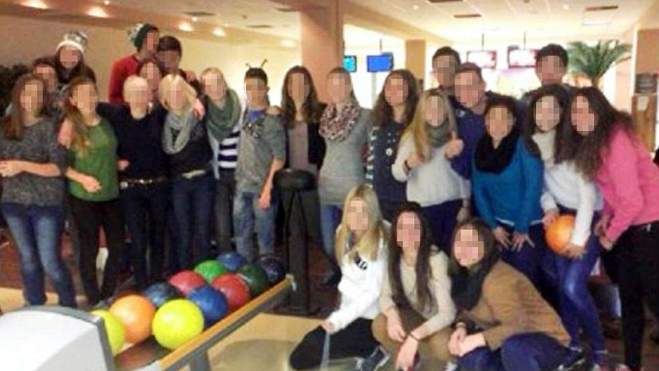 These are some of the German pupils who died on the Germanwings flight, which crashed in the Alps, killing all 150 passengers. The teenagers had been on a week-long exchange trip to Barcelona and were flying home when the plane crashed on Tuesday morning. They are pictured in December, when their Spanish counterparts visited Germany as part of the exchange trips between the two schools