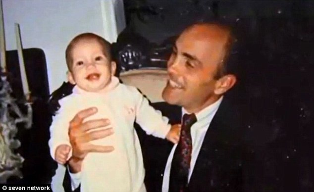 Never gave up hope: Savanna's father Benjamin Todd II (pictured with his baby daughter in 1994) never stopped hoping his kidnapped daughter would be found and each year updated her room and made a video for each of her birthdays