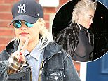 27.MARCH.2015 - LONDON - UK<br /> BRITISH SINGER RITA ORA WENT FOR THE CASUAL LOOK DRESSED IN DOUBLE DENIM WITH SUNGLASSES AND A BASEBALL CAP AS SHE LEFT THE DENTISTS IN LONDON.<br /> BYLINE MUST READ : XPOSUREPHOTOS.COM<br /> ***UK CLIENTS - PICTURES CONTAINING CHILDREN PLEASE PIXELATE FACE PRIOR TO PUBLICATION ***<br /> UK CLIENTS MUST CALL PRIOR TO TV OR ONLINE USAGE PLEASE TELEPHONE 0208 344 2007**
