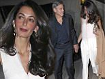 "George Clooney and Amal Clooney holds hands after having dinner at Tina Brown and Sir Harold Evans's Sutton Place residence in New York City. George can be seen holding Evans's book ""American Century.""\n\nPictured: George Clooney and Amal Clooney\nRef: SPL986290  270315  \nPicture by: Splash News\n\nSplash News and Pictures\nLos Angeles: 310-821-2666\nNew York: 212-619-2666\nLondon: 870-934-2666\nphotodesk@splashnews.com\n"