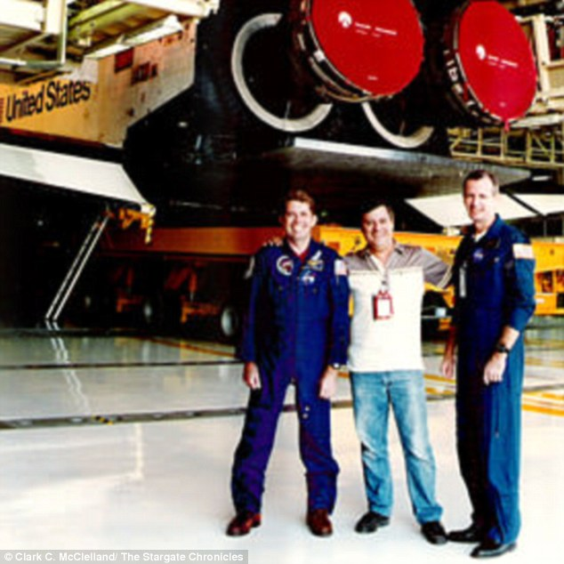 Getting his story out: McClelland has posted pictures from his time with NASA but claims nobody believes him
