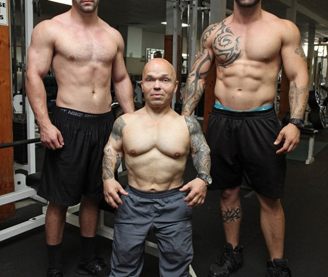 Preparing Here He Is Pictured With Two Workout Partners At A Gym In Homestead