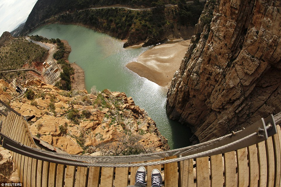 El Caminito del Rey, a notorious walkway in southern Spain, reopened to visitors over the weekend after it was made safer