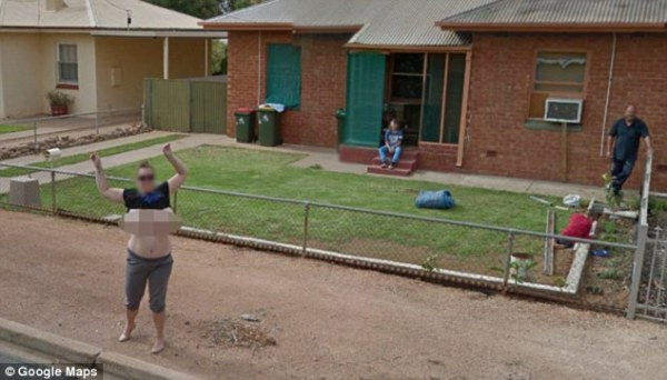 Google Street View catches 360-degree view of woman's size ...