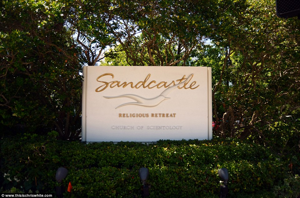 The entrance to the Scientology retreat called Sandcastle