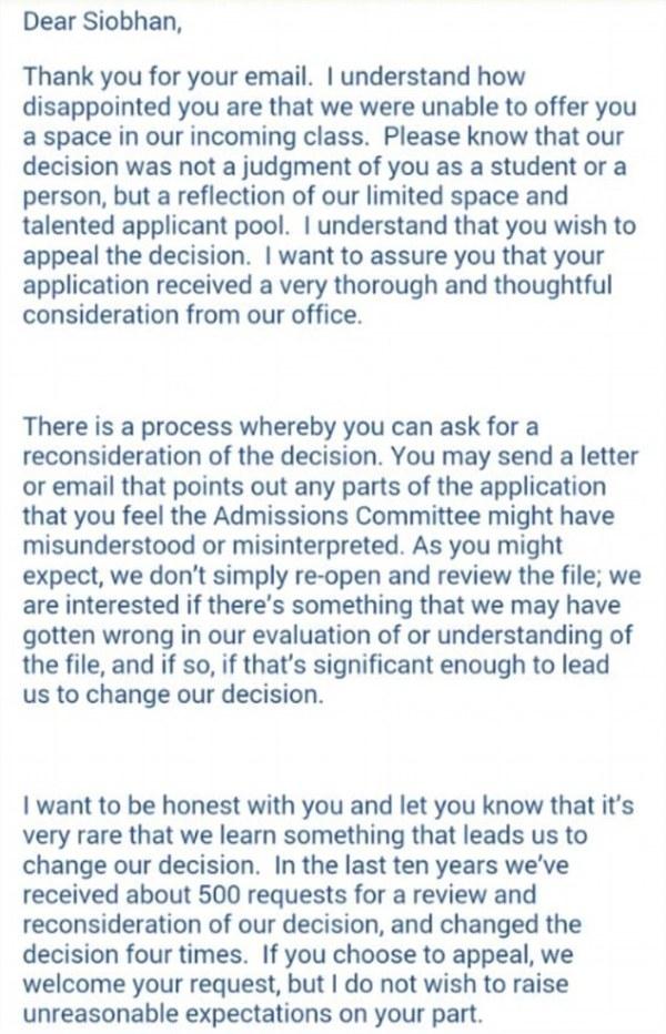 Siobhan O'Dell's turns down Duke University college ...