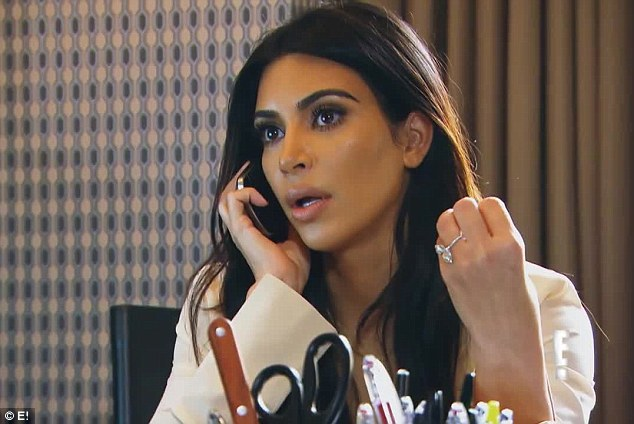 Fertility woes: Kim Kardashian is seen delivering bad news to husband Kanye West in a clip from the upcoming episode of Keeping Up With The Kardashians