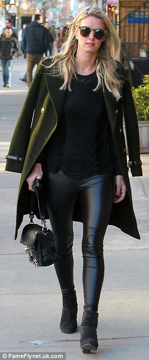 She's got edge: Meanwhile, Paris's younger sister Nicky was showing off her fashion credentials while out in New York City