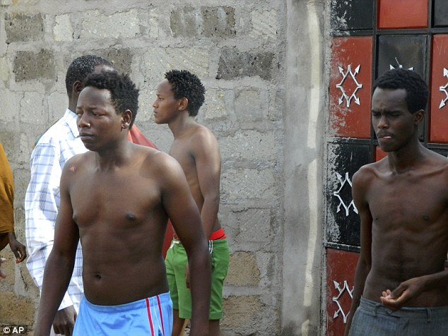 Some of the students did not have time to dress as they fled for their lives when faced by the gunmen