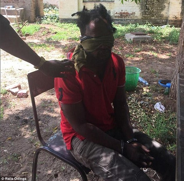 Kenyan security officials believe this man is one of the terrorists and tried to escape from the compound