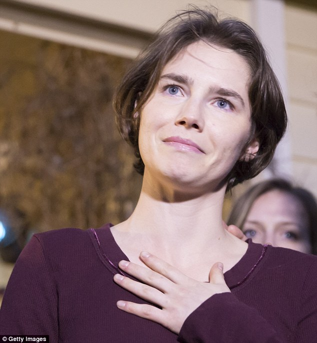Cleared: Amanda Knox and her ex-boyfriend Raffaele Sollecito served four years for Meredith Kercher's murder before being conclusively cleared by Italy's highest court last month