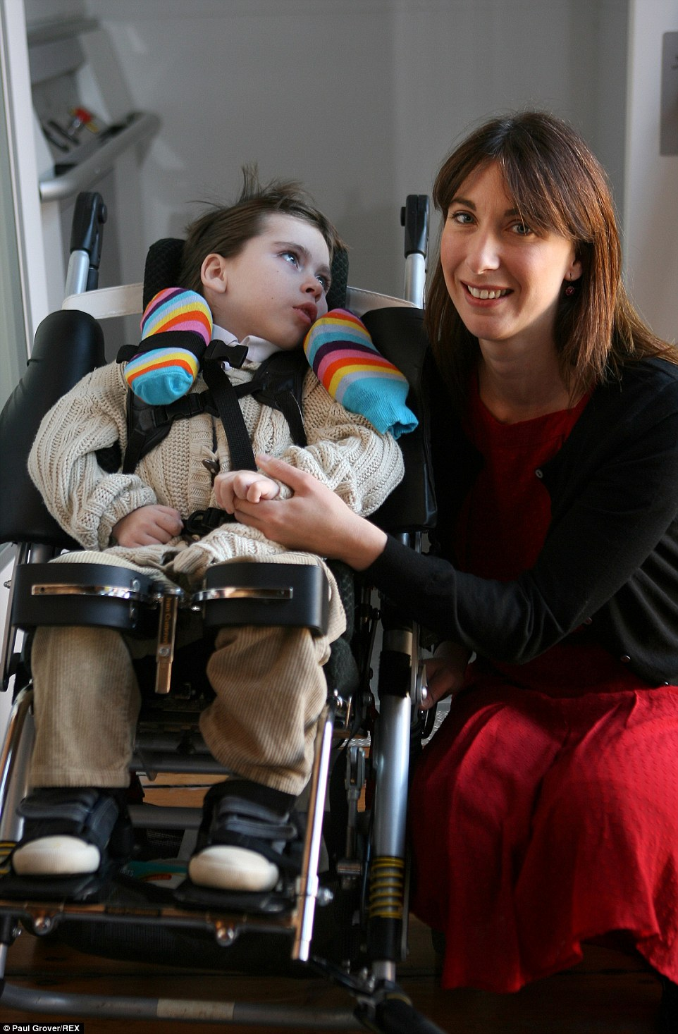Samantha with son Ivan in 2007. She said that Ivan changed both her and Mr Cameron 'for the better'