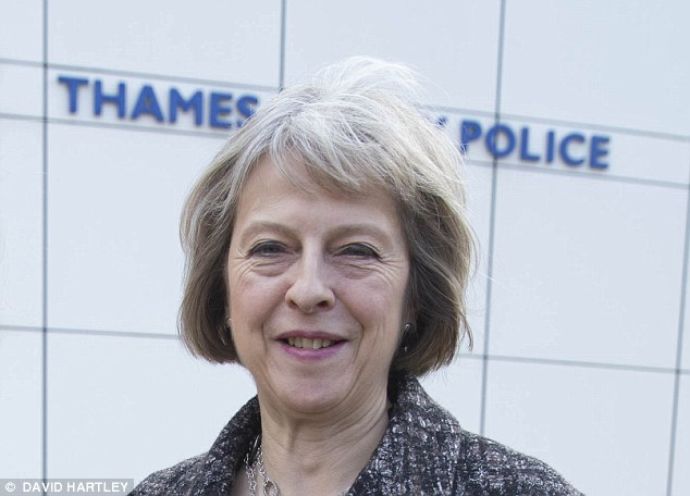 Pledge: Home Secretary Theresa May said police will have to record Islamophobic attacks as a separate category