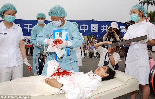 Demonstration of Organ Harvesting on Political and Religious Dissidents, as alleged is common practice of the Communist Party of China