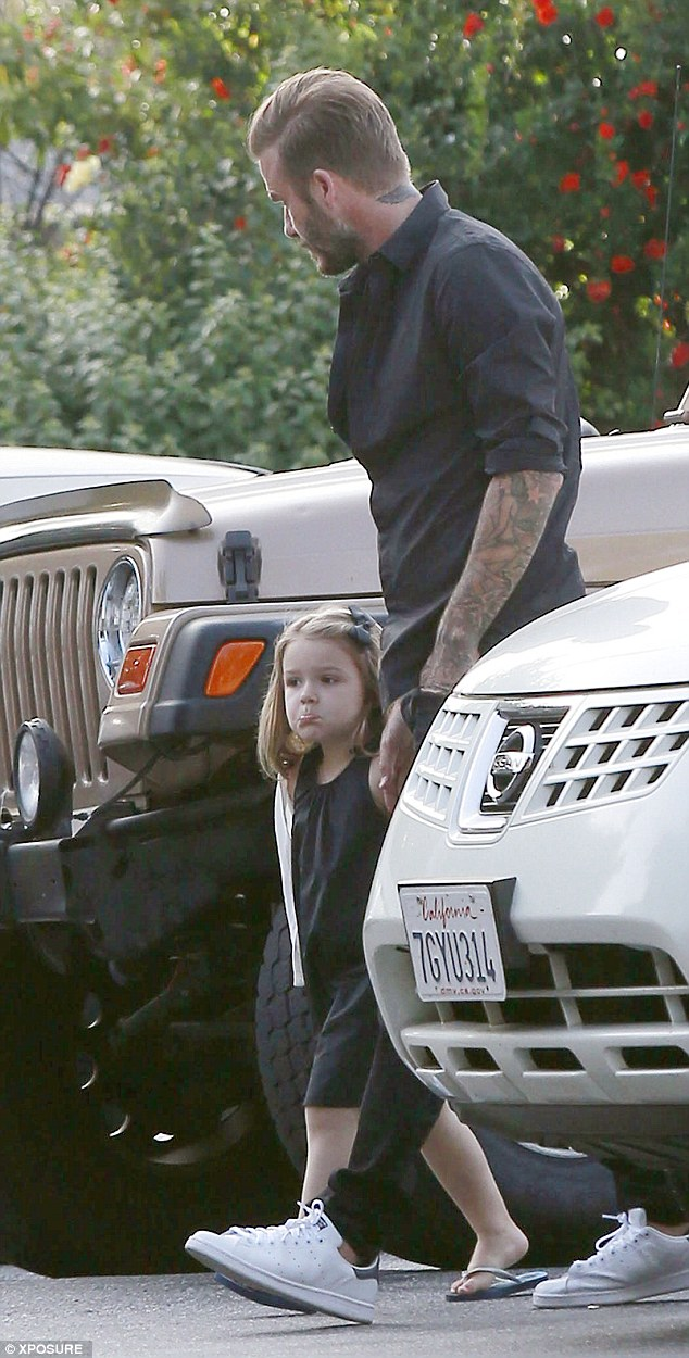David Beckham took the family for a meal in LA over Easter : Red Carpet Biz