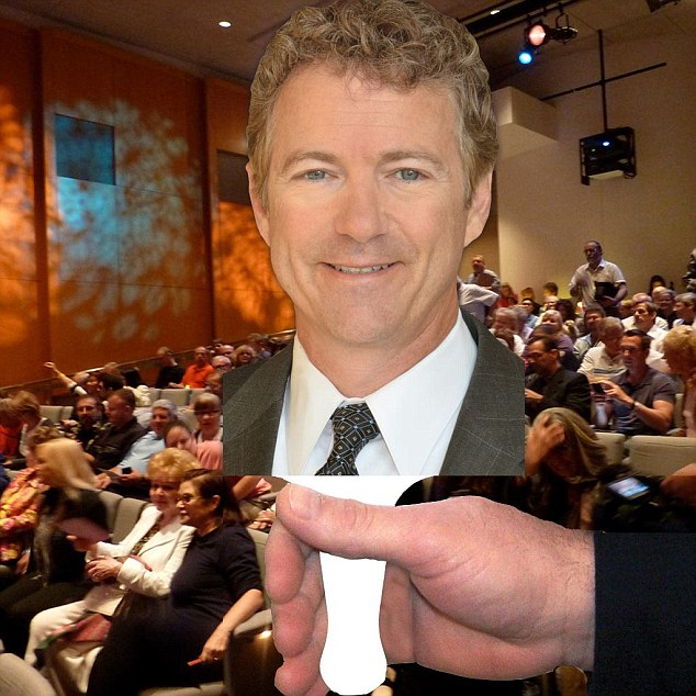 Libertarian icon Rand Paul has expanded his campaign store to include an array of unconventional SWAG, including the 'Rand on a Stick' item feature above, as he kicks off his presidential campaign