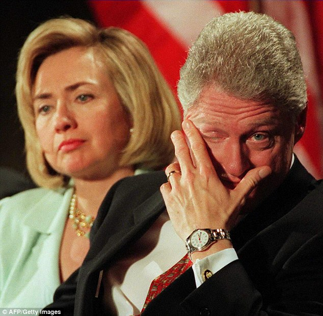 Image result for bill and hillary mad