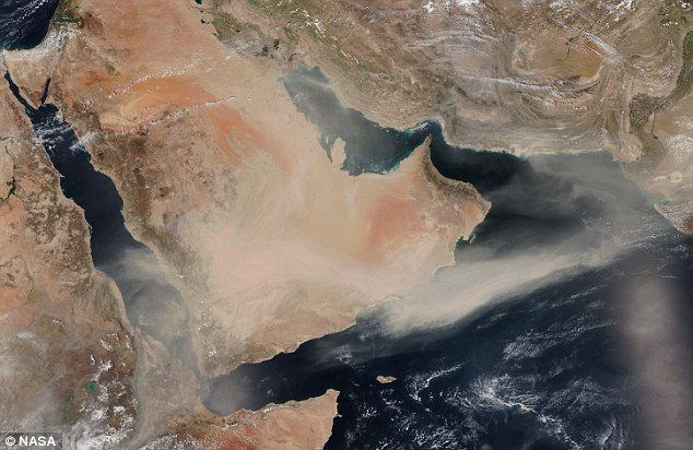 By April 4, it was beginning to stretch across the Arabia Sea towards Pakistan and India