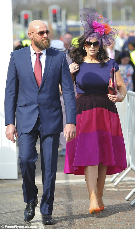 Coordinating: Several couples and groups of friends opted for complementary ensembles in a wide range of hues