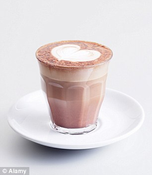 A mocha has strong flavours