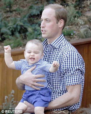 Prince William and his son George