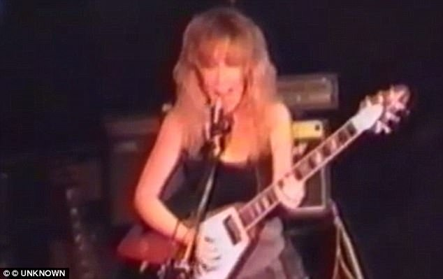 The mother-of-two, who lives on benefits while in the UK, was the lead guitarist in an all-girl rock band called Krunch during the early 1990s. The band played a series of gigs in the South East