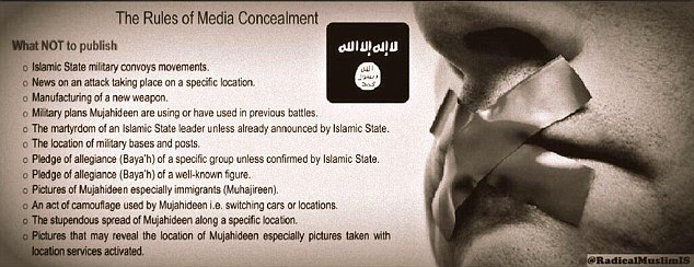 The media crackdown appears to be an attempt by ISIS senior commanders to eradicate any knowledge of the extremist group's defeats or internal problems.