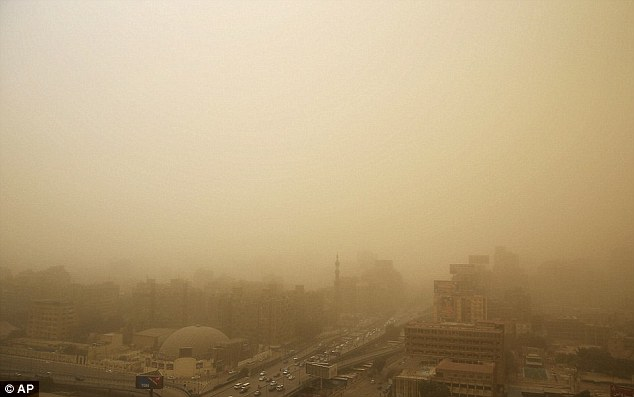 Severely reduced viability caused traffic chaos in Egypt's capital city
