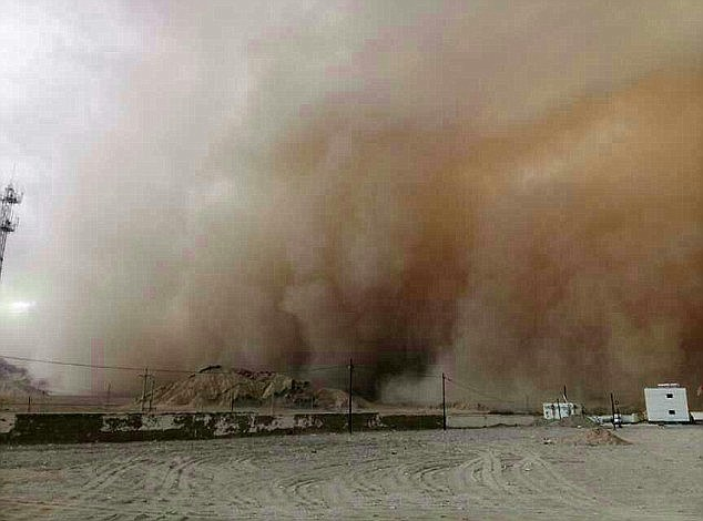 The sandstorm was the fourth to hit the area this year as authorities struggle to deal with the natural hazards