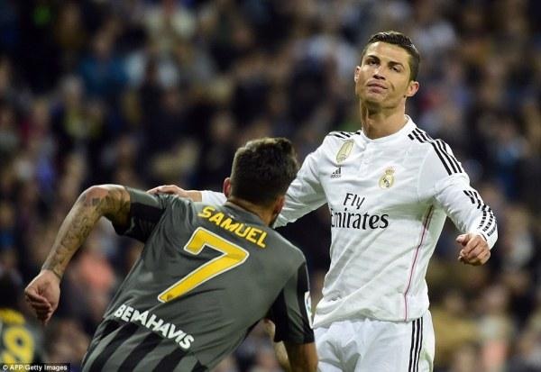 Real Madrid 3-1 Malaga: Cristiano Ronaldo misses penalty ...