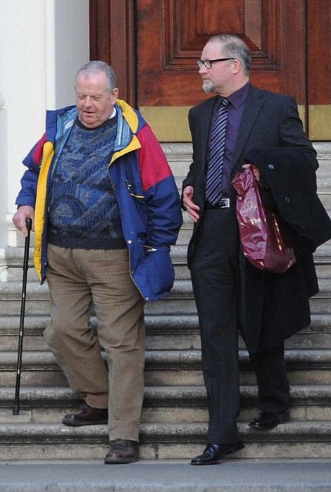 Attendees: Ex-National Front national organiser Martin Webster(left)