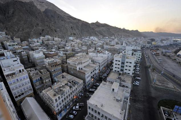 A general view shows the southeastern Yemen city of Mukalla, recently seized by Al-Qaeda militants, on April 29, 2014
