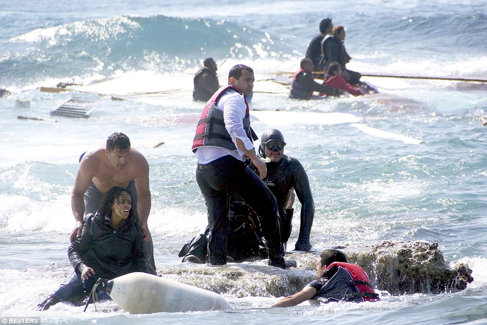 Three people died after a boat carrying dozens of migrants ran aground on the Greek holiday island of Rhodes. Beach-goers were among the first to come to survivors' rescue as emergency services off the coast of Libya continued to survey the horror of an earlier disaster