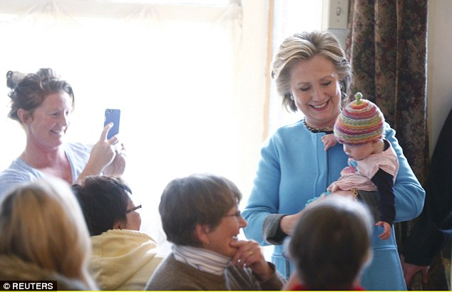 MEET MOLLY: Clinton enjoyed the oldest campaign tactic in the book – posing with a baby – on Monday, and gushing that she wanted to bring the infant home with her