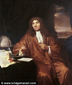 Antoni van Leeuwenhoek (pictured in a portrait ) used his body as a guinea pig in an experiment