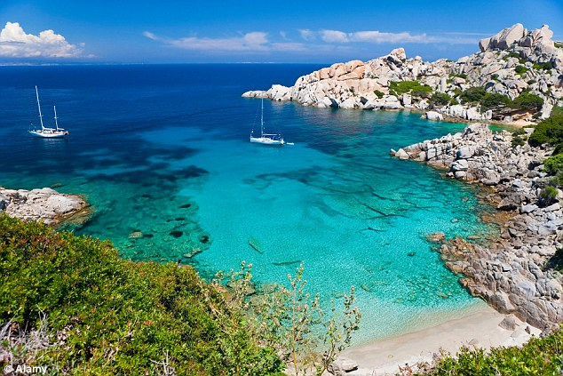 Location: Ongoing raids largely focussing on the autonomous island of Sardinia (pictured) is targeting 18 members of an Al Qaeda-inspired group suspected of plotting attacks in Pakistan and Afghanistan