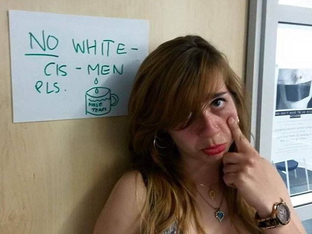 Image result for men banned from university male tears