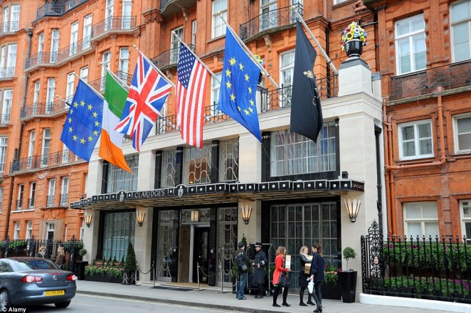 Iconic: The sale of the hotel group, which includes Claridge's (pictured), was reported to have been as high as £1.6billion
