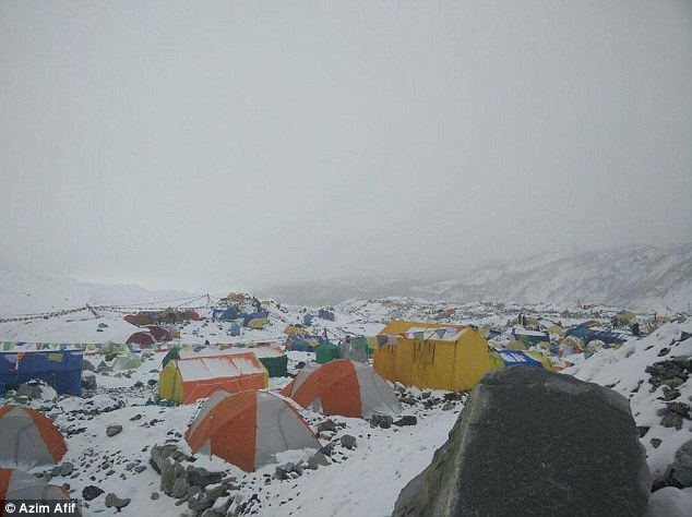 The avalanche is believed to have occurred between the Khumbu Icefall, a rugged area of collapsed ice and snow, and basecamp