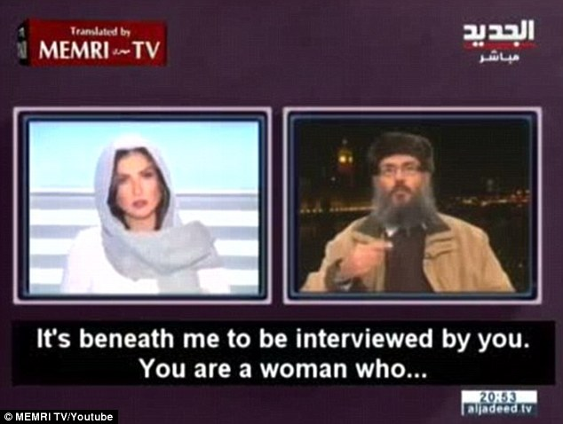 Al-Sibai recently sparked controversy when he aired his sexist comments live on air leading the female TV host to cut him off abruptly