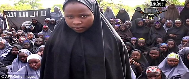 After being kidnapped by Boko Haram, some of the girls were paraded on camera by the group wearing the full length hijab
