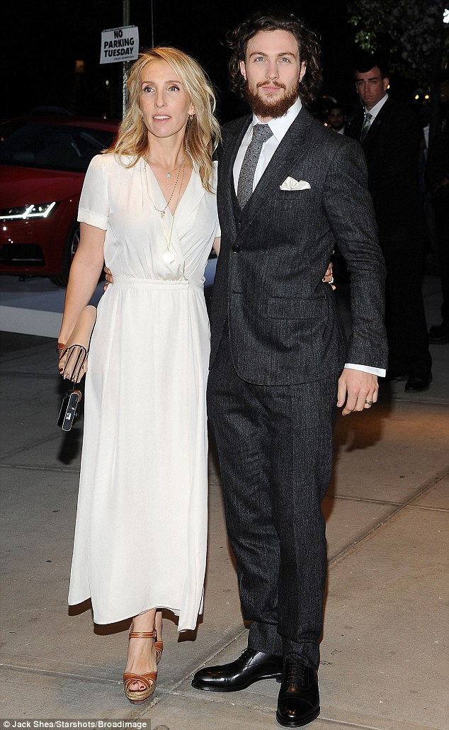 Aaron Taylor-Johnson and wife Sam look loved-up at ...