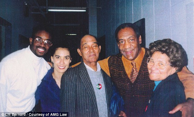 Group: Here, Bernard is seen (second from the left) in a group photograph with Bill Cosby (second from right). They last saw each other in 1992