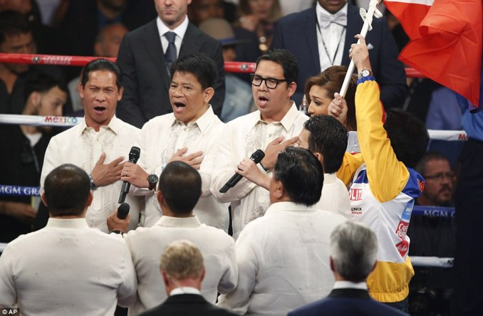 Gail Banawis, accompanied by the Word Chorale, a chorus composed of pastors, gave us the Philippine national anthem